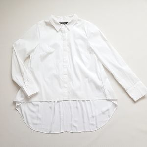 WHBM High-Low Button Up Shirt White Size 10